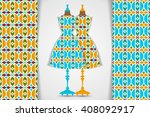 elegant festive card with... | Shutterstock .eps vector #408092917