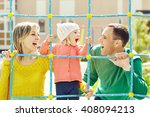child with parents at the...   Shutterstock . vector #408094213