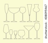 glasses set icon on the yellow... | Shutterstock . vector #408095467