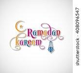 illustration of ramadan kareem...   Shutterstock .eps vector #408096547