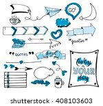 vector hand drawn set on white... | Shutterstock .eps vector #408103603