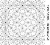 monochrome geometric seamless... | Shutterstock .eps vector #408104653