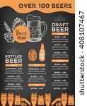 beer restaurant brochure vector ... | Shutterstock .eps vector #408107467
