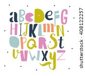 bright creative abc for your... | Shutterstock .eps vector #408122257