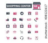 shopping center icons  | Shutterstock .eps vector #408122617