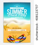 summer beach party template ... | Shutterstock .eps vector #408123757