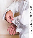 men wear a shirt and cufflinks... | Shutterstock . vector #408126157