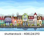 small town street with .vector...