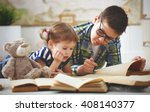 children brother and sister ... | Shutterstock . vector #408140377