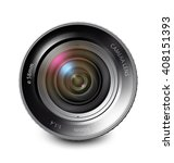camera lens isolated on white... | Shutterstock .eps vector #408151393