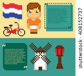 netherlands culture symbols... | Shutterstock .eps vector #408152737
