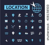 location icons  | Shutterstock .eps vector #408158503