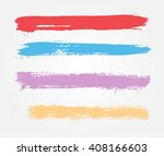 hand painted brush strokes... | Shutterstock .eps vector #408166603