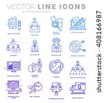 thin line icons set. business... | Shutterstock .eps vector #408166987