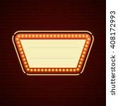 retro showtime sign design.... | Shutterstock .eps vector #408172993