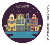 vector illustration of night...   Shutterstock .eps vector #408176443