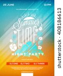 beach party flyer or poster.... | Shutterstock .eps vector #408186613