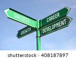Small photo of Success, growth, career, development signpost