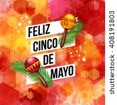 bold dynamic fifth may mexican... | Shutterstock .eps vector #408191803