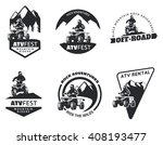 set of atv emblems  badges and... | Shutterstock . vector #408193477