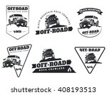 set of classic off road suv car ... | Shutterstock . vector #408193513