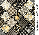 seamless floral patchwork... | Shutterstock .eps vector #408214393