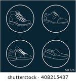 shoes icon set | Shutterstock .eps vector #408215437