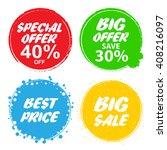 big sale  special offer  big... | Shutterstock .eps vector #408216097
