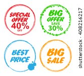 big sale  special offer  big... | Shutterstock .eps vector #408216217