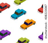seamless car isometric pattern | Shutterstock .eps vector #408223087
