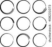 grunge circles  vector...   Shutterstock .eps vector #408231073
