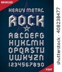 gothic font  metallic beveled... | Shutterstock .eps vector #408238477