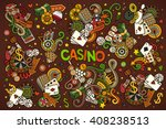 colorful vector hand drawn... | Shutterstock .eps vector #408238513