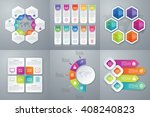 vector illustration set... | Shutterstock .eps vector #408240823
