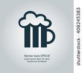 vector illustration of beer mug ...