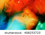 Colored Liquids Mixed Together...
