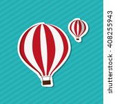 hot air balloon graphic  ... | Shutterstock .eps vector #408255943