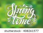 spring design handwriting... | Shutterstock .eps vector #408261577