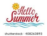 summer time calligraphic design ...