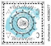 astrology set for zodiac sign... | Shutterstock .eps vector #408288277