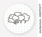 people talk doodle | Shutterstock .eps vector #408295477