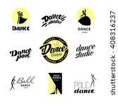 vector flat dance studio logo.... | Shutterstock .eps vector #408316237