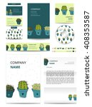 business set with hand drawn... | Shutterstock .eps vector #408353587