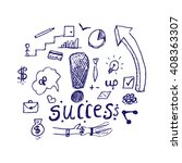success concept with hand draw...
