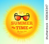 summer poster with it's summer... | Shutterstock .eps vector #408365347