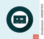 audio cassette icon. music...