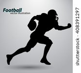 football player silhouette | Shutterstock .eps vector #408391297
