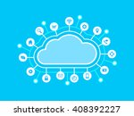 computing cloud and internet... | Shutterstock .eps vector #408392227