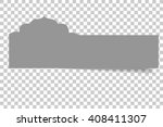 tag with mosque shape  | Shutterstock .eps vector #408411307
