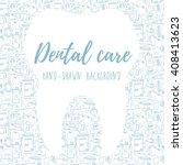 dental care background  banner... | Shutterstock .eps vector #408413623